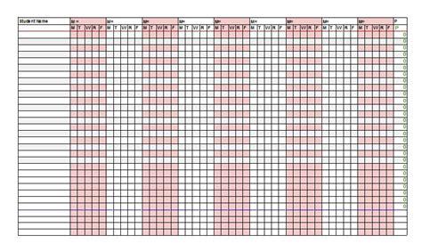 Attendance Spreadsheet by 38 Free Printable Attendance Sheet Templates