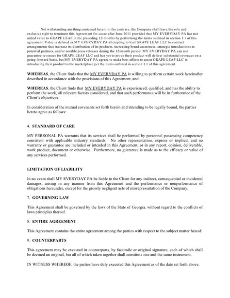 Sle Letter Of Agreement For Consulting Services Marketing Consulting And Independent Contract Agreement