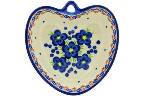 heart pattern crockery polish pottery 6 inch heart shaped bowl boleslawiec