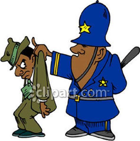 Can You Be A Cop With A Criminal Record A Policeman Apprehending A Criminal Royalty Free Clipart Picture