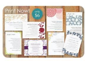 diy wedding invitations template diy wedding invitation templates