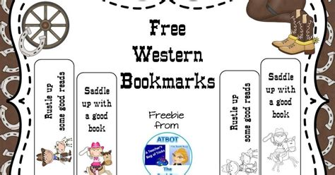 printable western bookmarks classroom freebies free western themed bookmarks