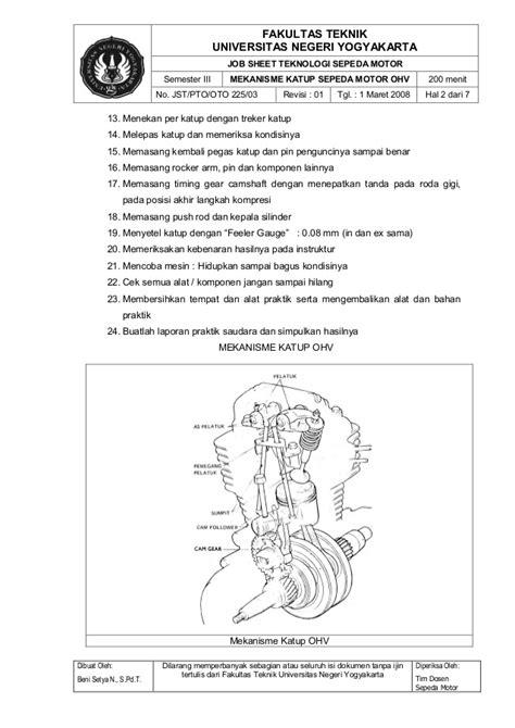 Kunci Ring Piston jobsheet teknologi sepeda motor oto 225 iso komplit