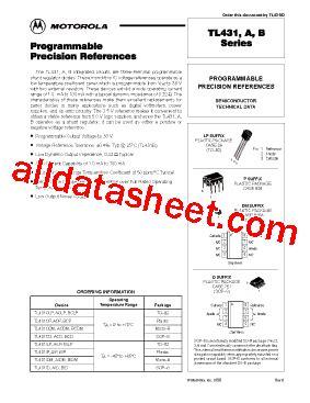 transistor tl431 tl431 fiche technique pdf motorola inc
