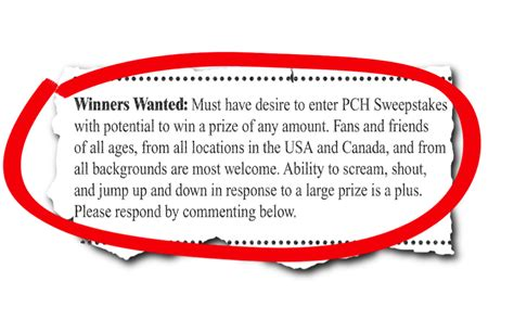 Call Pch - winners wanted pch blog