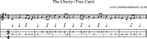 mandolin tab and sheet for song the cherry tree carol
