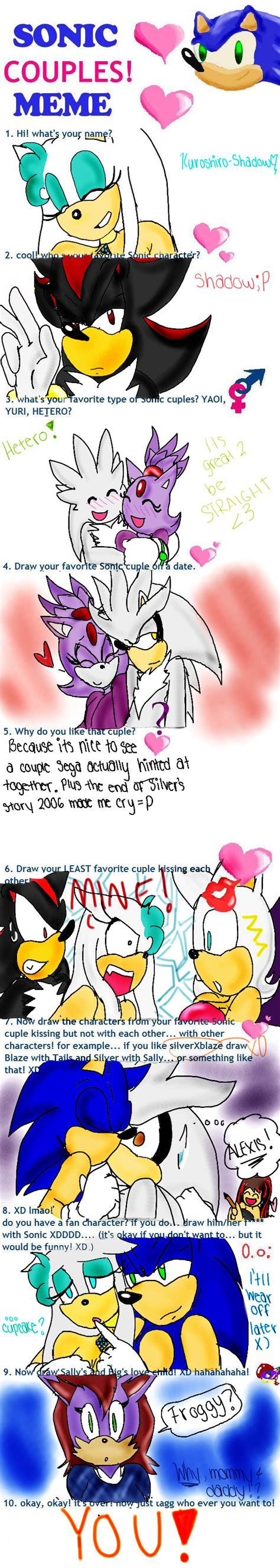 Sonic Couples Meme - sonic couples meme by kuroshiro shadow on deviantart