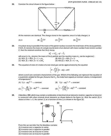 kvpy answer key solution 2017 stream sa sb sx kvpy 2013 sb sx question paper aglasem schools