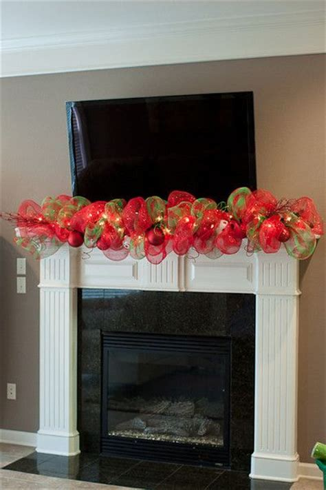 Garland For Fireplace Mantel by Beautiful Mesh Garland When I Teach Garlands In Class I