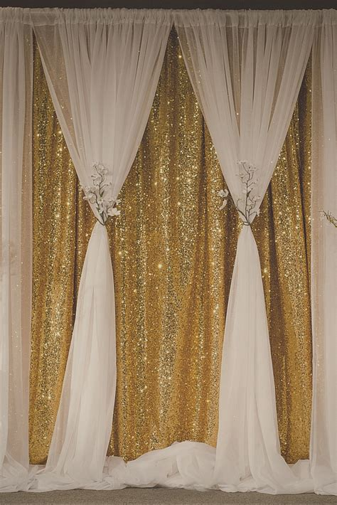 Wedding Backdrop Curtains Gold Sequin Curtain Becomes Soft And When You Create This Beautiful Two Layer Backdrop