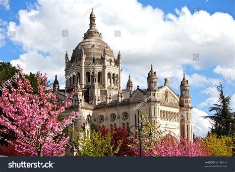 st therese basilica lisieux france basilica st therese lisieux normandy france stock photo
