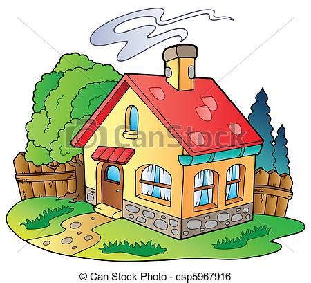 small cartoon house illustration shows done style isolated small family house vector illustration clip art vector