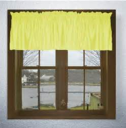 Yellow Kitchen Curtains Valances Solid Bright Lemon Yellow Color Valance In Many Lengths Custom Size