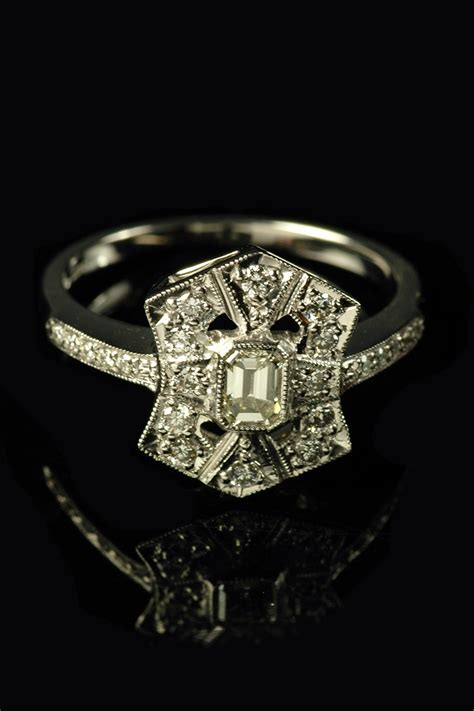 deco ring styles platinum deco style ring goodwins antiques
