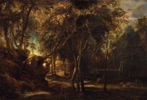 peter paul rubens a forest at dawn with a deer hunt 1990 - Lake Kinkaid Boat Rs
