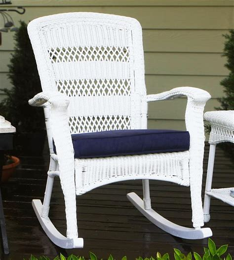 White Wicker Rocking Chair by Portside Plantation Rocking Chair Psr P White Wicker