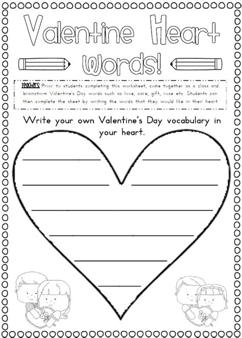 valentines writing activities 13 best images about s day worksheets and more