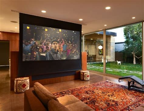 media room screens drop screen converts tv room to theater electronic