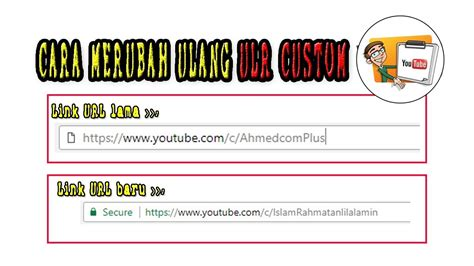 membuat url youtube cara membuat ulang custom url channel youtube gang