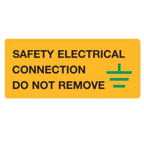 what electrical connection is made by the safety wire self adhesive labels quot safety electrical connection do