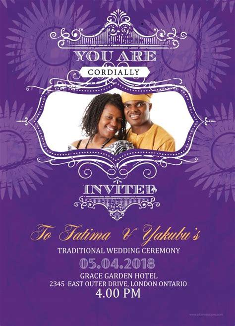 Wedding Invitation Card Nigeria by Printable Wedding Invitation Card Nigeria