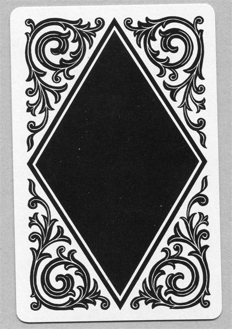 vintage patterned card single swap playing card vintage black white deco