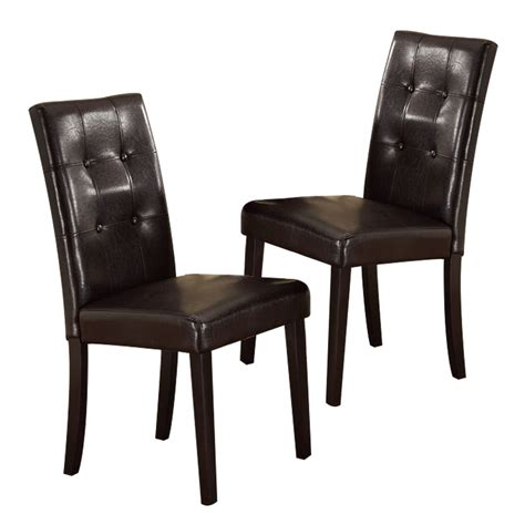 set of 2 dining room furniture brown leather dining set of 2 high back dining side chairs stools upholstered