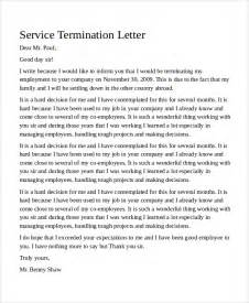 Service Termination Letter Sle Termination Letter 9 Exles In Word Pdf