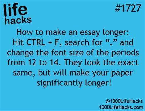 How To Make Your Paper Look Longer - how to make an essay longer trusper