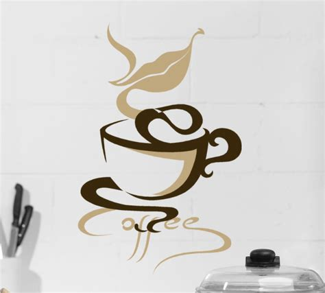 coffee wall stickers coffee wall decor coffee cup decal coffee mug decal mothers