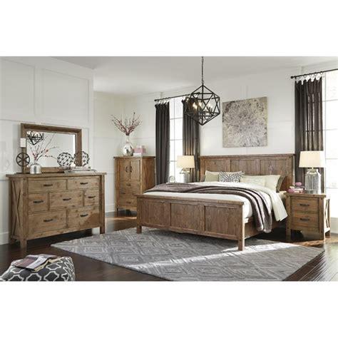 5 piece king bedroom set home furniture design ashley tamilo 5 piece king panel bedroom set in grayish