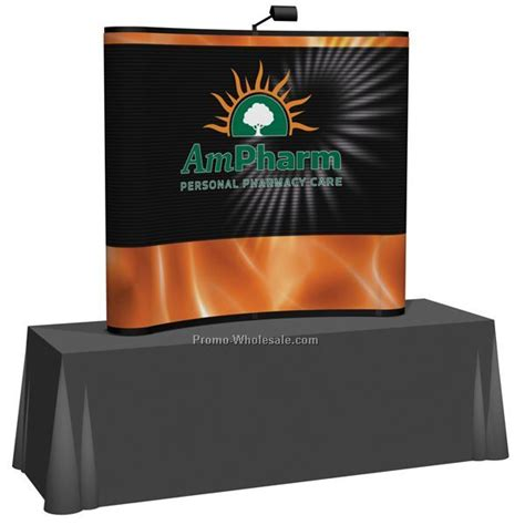 10 Arise Pop Up Curve Floor Display by Arise Pop Up Curve Tabletop Display W Lights Mural 6