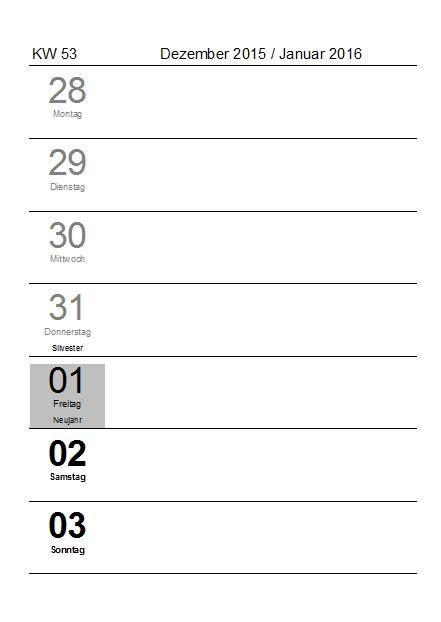 Kalender 2016 Vordruck Kostenlose Kalendervorlagen 2016 Office Lernen