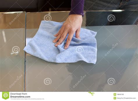 Clean Table by Clean Table With Micro Fiber Cloth Stock Photos Image