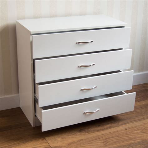 bedroom furniture chest of drawers riano chest of drawers white 4 drawer metal handles