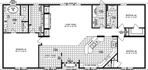 jacobsen mobile home floor plans the tnr 46811w manufactured home floor plan jacobsen homes