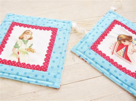 Patchwork Pot Holders - pot holder kitchen pad patchwork quilted 4 by poppyshome