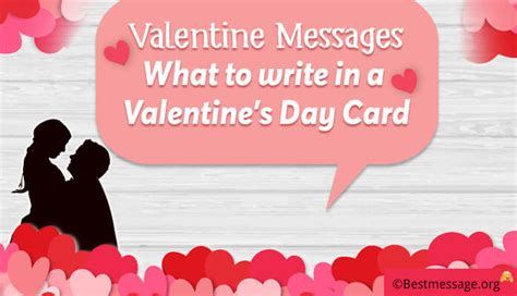 what to write in valentines card messages for and in