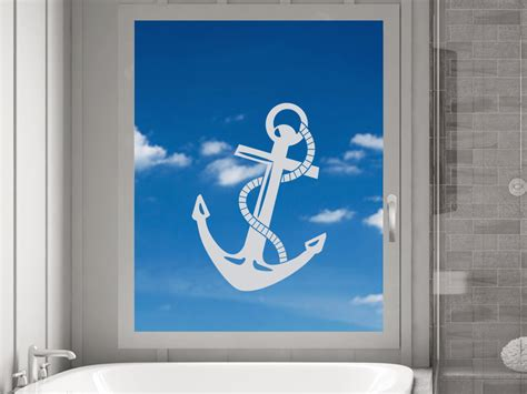 Folien Aufkleber Maritim by Glasdekor Fensterfolie Aufkleber Sichtschutz Badezimmer