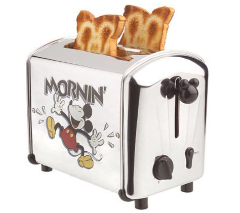Mickey Toaster Mickey Mouse Mornin Musical Stainless Steel 2 Slice