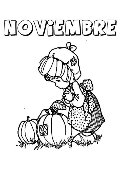 imagenes para colorear noviembre dibujos de noviembre para descargar gratis imprimir y