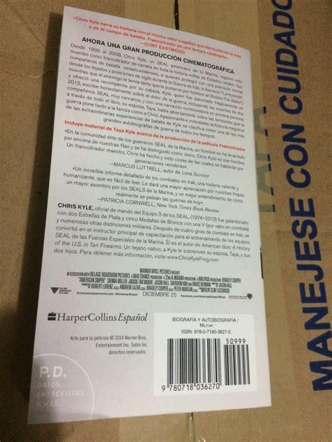 francotirador libro chris kyle pdf espanol libro kyle el francotirador e4f de la pel 237 cula 299 00 en mercado libre