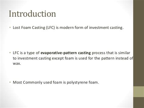 pattern allowances slideshare investment casting ppt