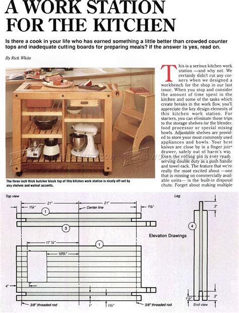 kitchen work table plans woodarchivist