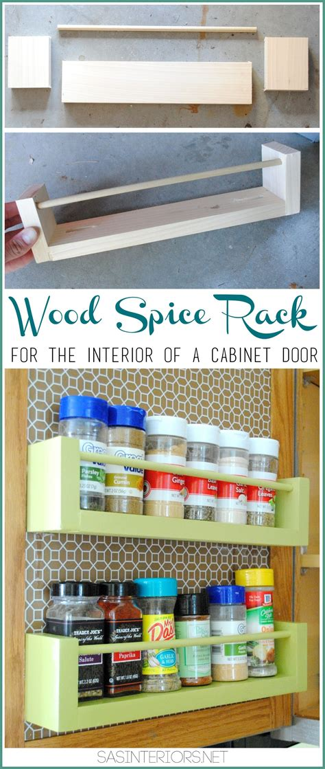 inside cabinet spice rack diy wood spice rack jenna burger