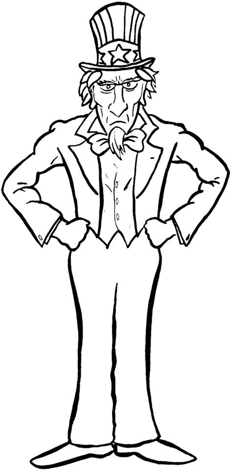 coloring page uncle sam uncle sam coloring page free coloring pages on art