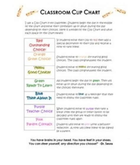 Parent Letter Explaining Clip Chart Clip Chart Parent Letter Behavior Tips