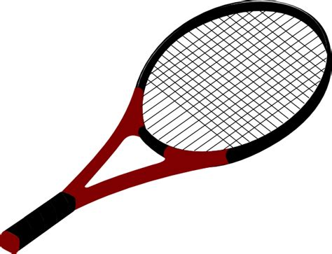 Raket Tenis tennis racquet clip at clker vector clip