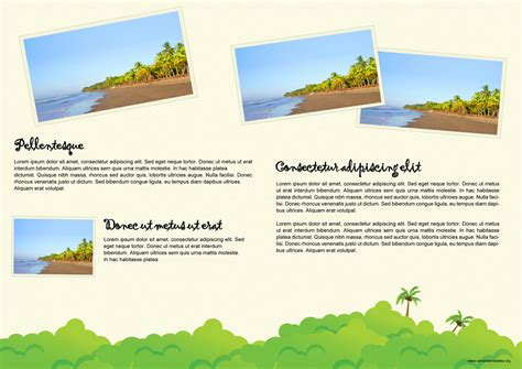 brochure template for travel format of travel brochure