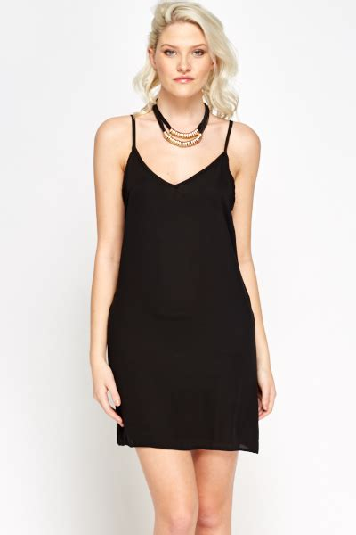 strap swing dress black spaghetti strap swing dress just 163 5